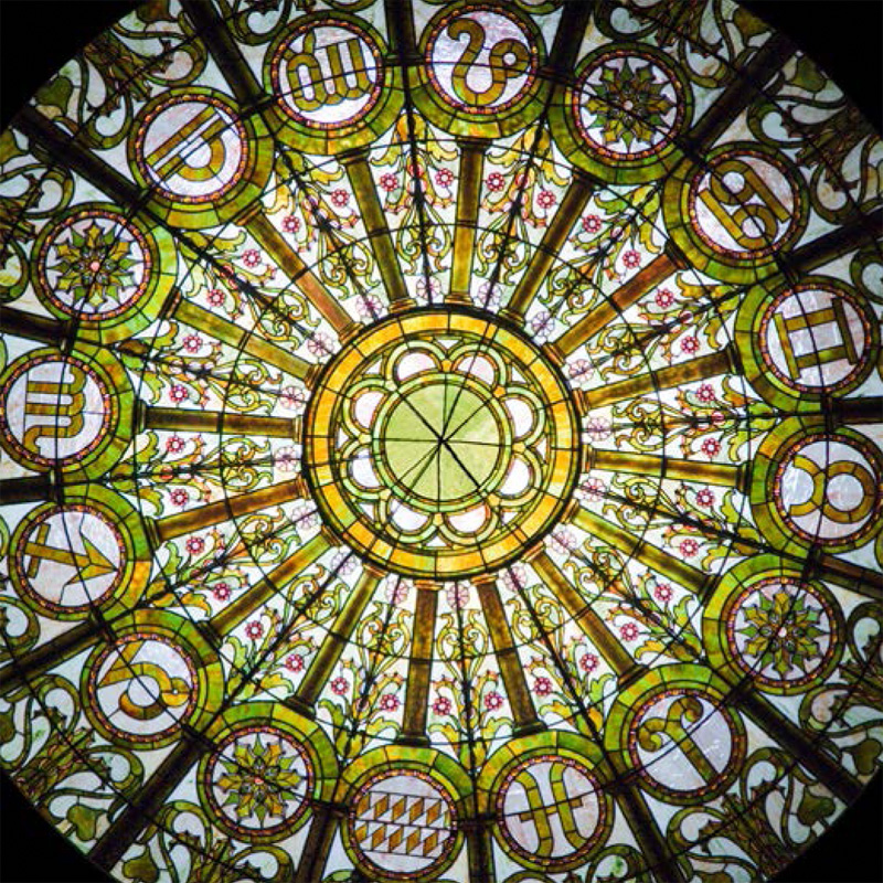 Stained Glass Dome Restoration Elegant And Beautiful